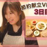 【節約献立Vlog#1】3日目🍳ブロッコリーと豚肉の塩炒め 他|1500円以内で作る3日間の晩ごはん|時短メニュー